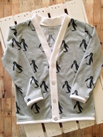 penguin cardigan from TheHumbleLemon etsy
